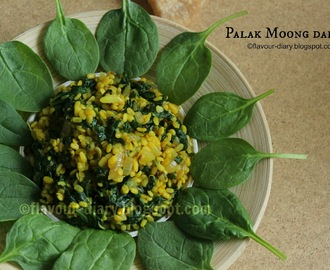 Palak Moong Dal Fry | Vegetarian Curry | Flavour Diary