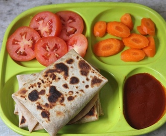 Mushroom Roti Parcels Recipe - Kids Lunch Box Ideas