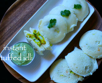 instant stuffed idli recipe | instant stuffed masala idli recipe