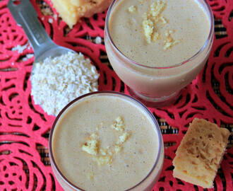 Sweet oats milkshake - Sweet Breakfast Smoothie recipe - Mysore Pak, Oats milkshake recipe