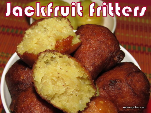 Jack fruit fritters recipe