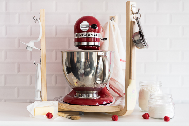 DIY Mobile Kitchen Aid Station #ikeahack