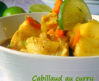 Cabillaud au curry et lait de coco