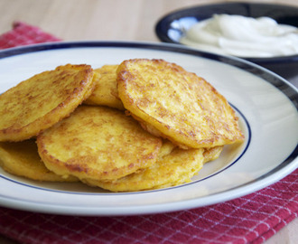 French Fridays with Dorie – Garlic-Cheese Corn Pancakes