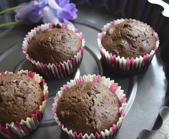 Double Chocolate Cup cakes |  Easy Chocolate  Cupcakes