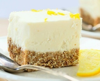 No Bake Lemon Cheesecake Recipe {Gluten-Free, Vegan}