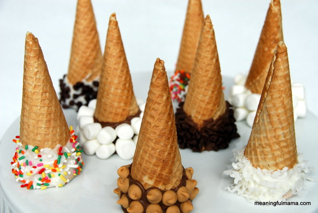Day #182 - Chocolate Dipped Ice Cream Cones