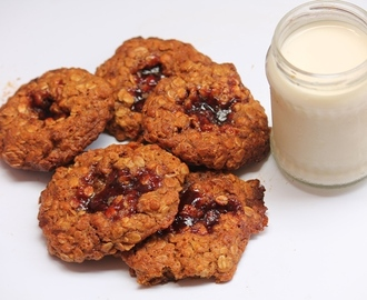 Oatmeal Jammys Recipe - Chewy Oatmeal Jam Cookies Recipe