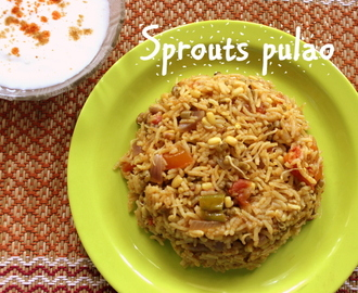 Sprouts pulao recipe – how to make healthy green moong sprouts pulao recipe – healthy recipes