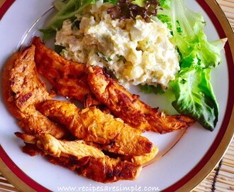 Smoky Grilled Chicken Tenders with Potato Salad |Quick Meals