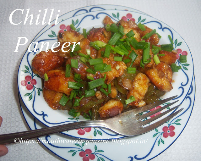 Chilli Paneer Recipe -- How to make Chilli Paneer Recipe Dry at Home