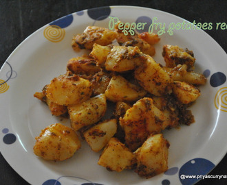 Potato Pepper fry recipe, how to make Less oil potato dry recipe at home
