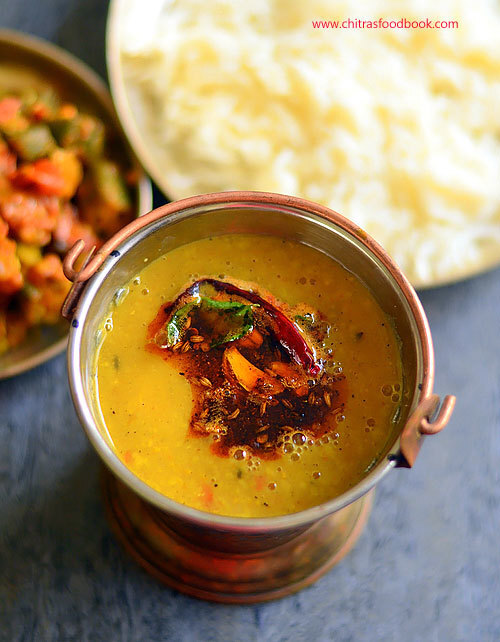 Easy Dal Tadka Recipe - How To Make Dal Tadka Using Pressure Cooker