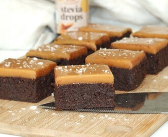 LCHF salted caramel brownies!