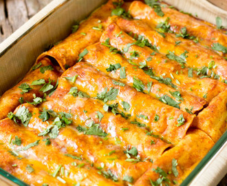 Black Bean Vegan Enchiladas