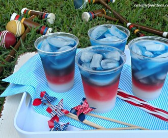 Layered Drinks {4th of July Style}