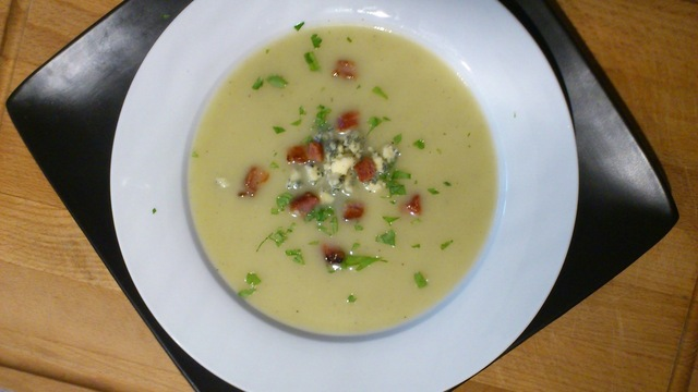 Celery Soup with Stilton and Bacon