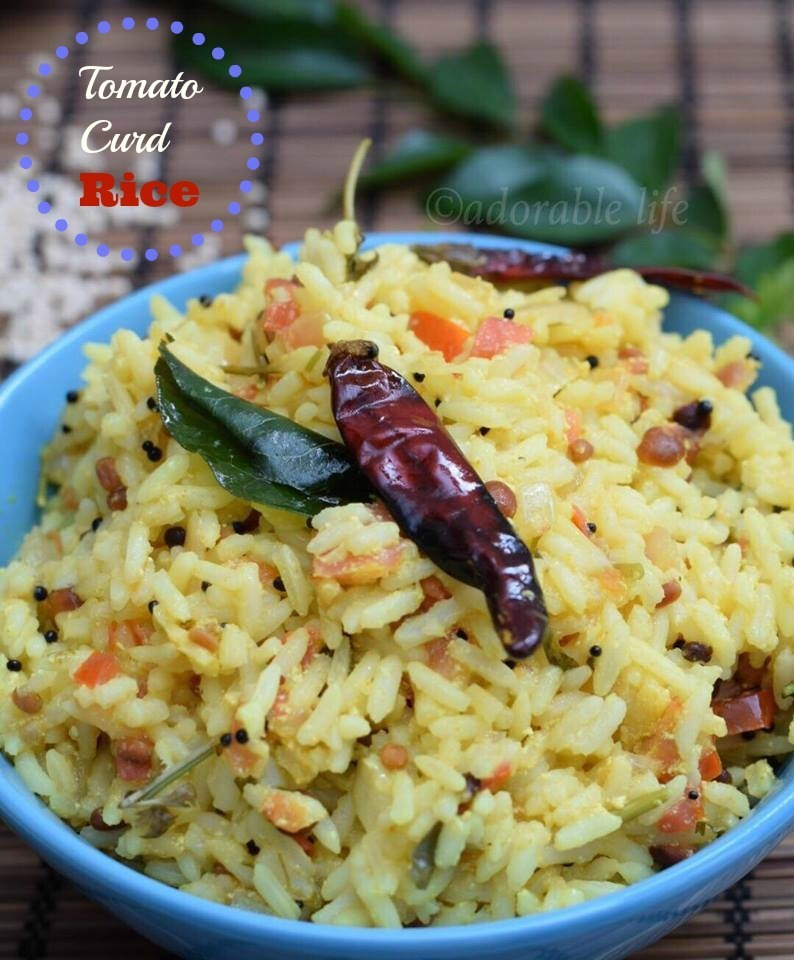 Tomato- Curd Rice