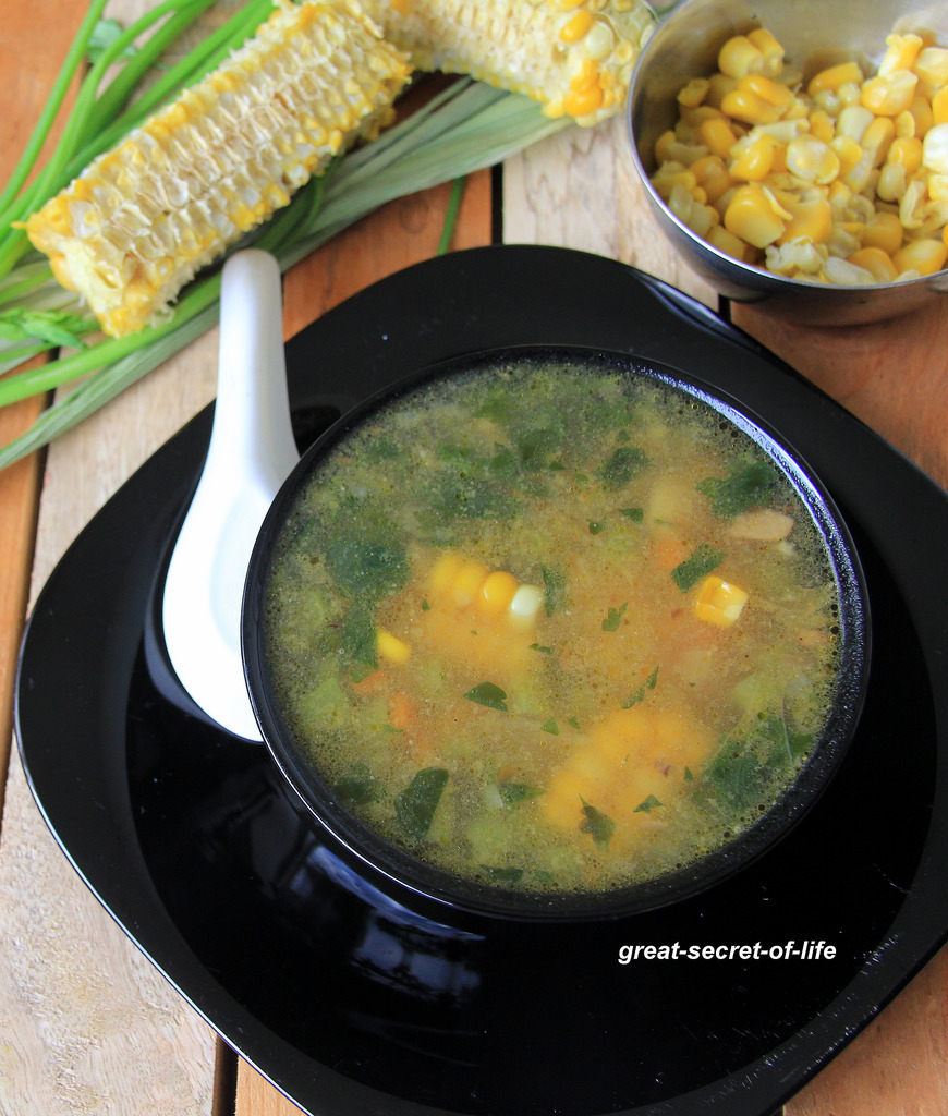 Corn Soup - Chinese style corn soup - Simple soup recipe - Starter