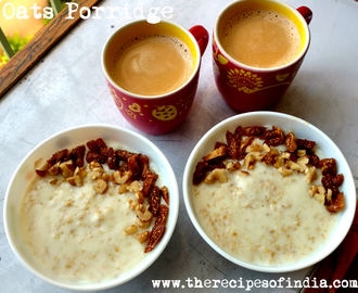 Breakfast Oats Porridge Recipe