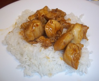 Bourbon Chicken and rice
