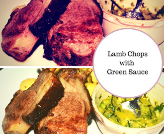 Costeletas de borrego com molho verde // Lamb Chops with Green Sauce