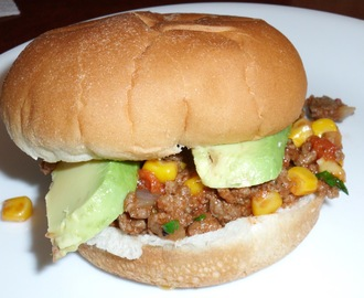 Southwestern Sloppy Joes with Avocado