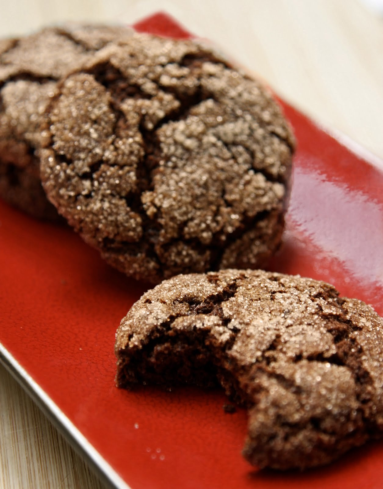 spicy, chewy ginger cookies