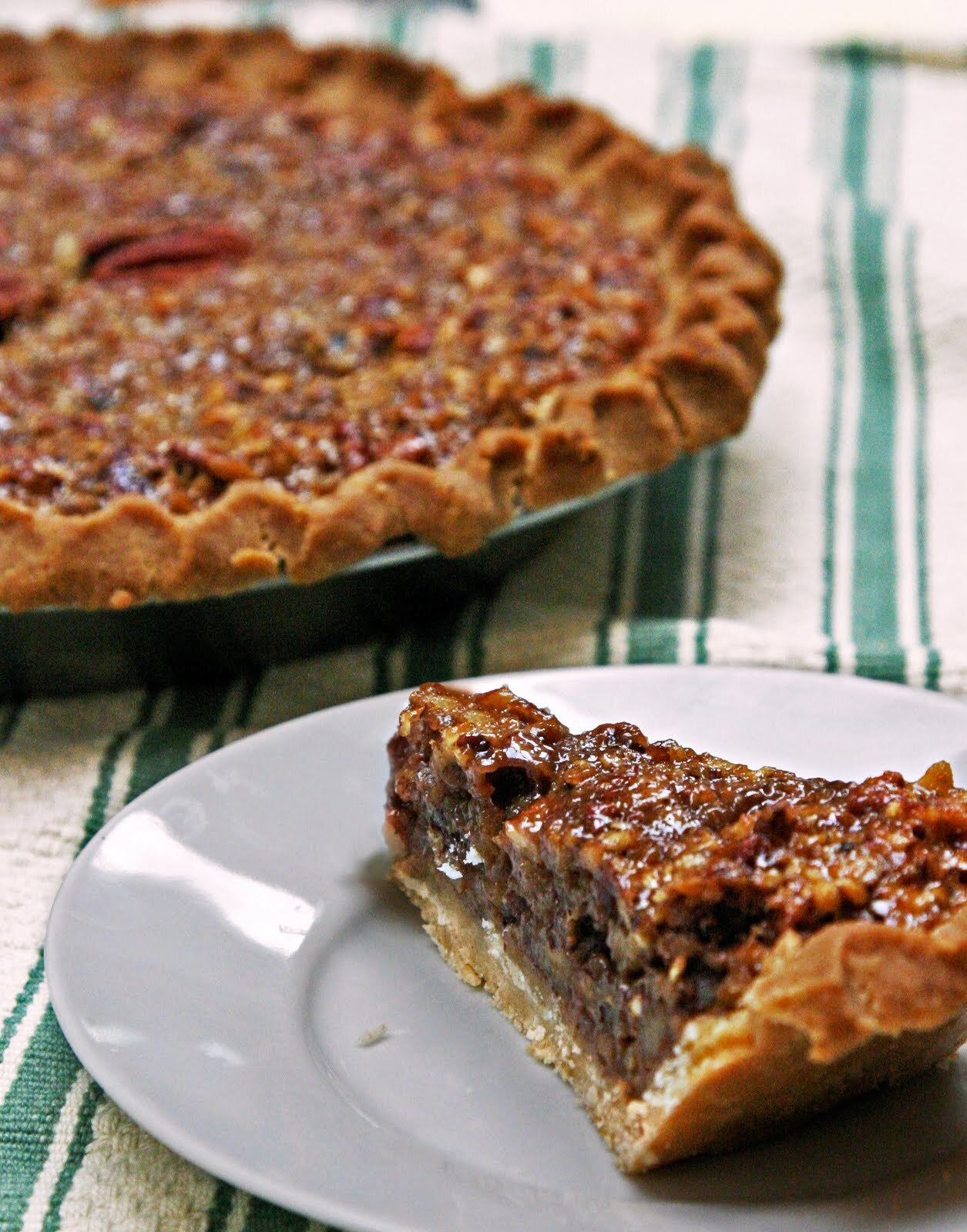 pecan pie with fresh ginger