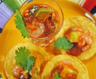 Mexican Shrimp Cocktail Shooters ~ A #SpicyChat Guest Post at The Primlani Kitchen!
