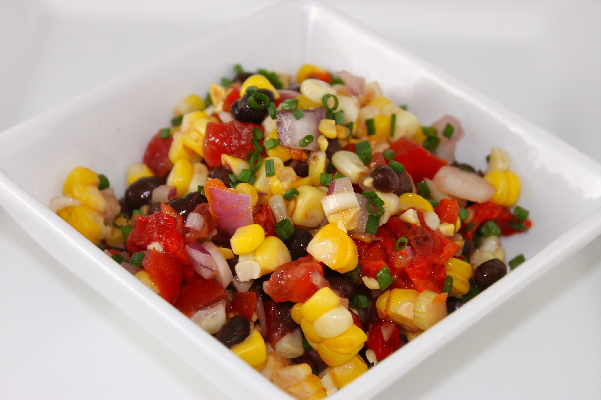 Grill~Roasted Corn Salad with Black Beans, Avocados and More!