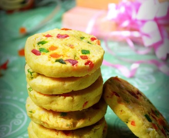 EGGLESS TUTTI FRUTTI COOKIES / FRUIT COOKIES / KARACHI BISCUIT RECIPE