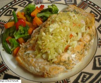 Copycat recipe for Stuffed Salmon