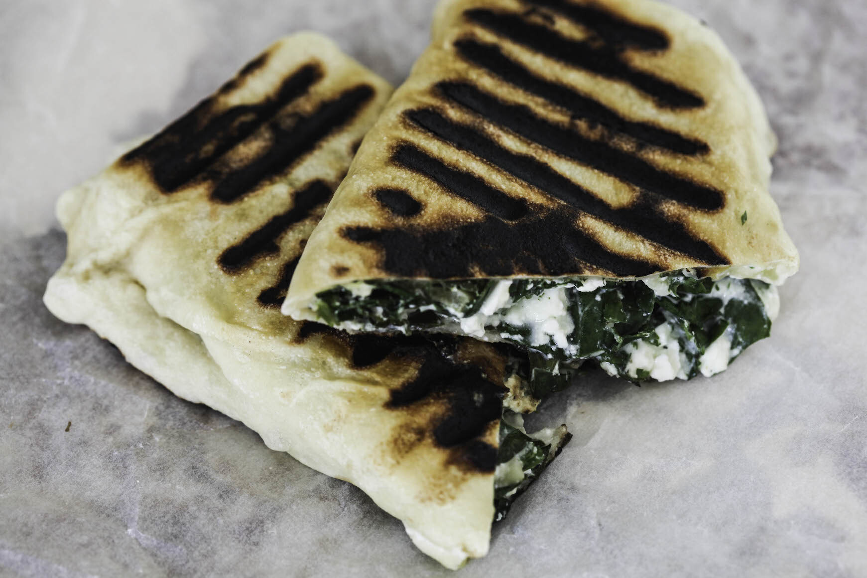 Feta, Spinach And Herb Gozleme
