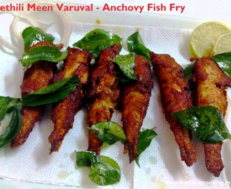 Nethili Meen Varuval - Anchovy Fish Fry