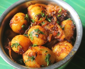 Dahi Aloo Roast Recipe - Potato Roast with Yogurt
