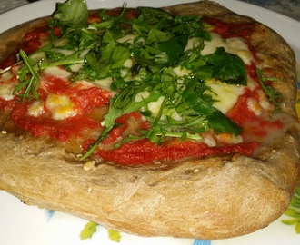Pizza integrale margherita e rucola