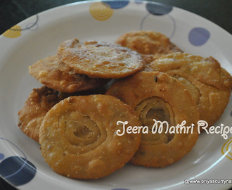 Jeera Masala Mathri Recipe , How to make namkeen Jeera Mathari using wheat flour at home