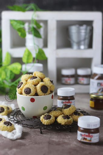 COCONUT NUTELLA THUMPRINT COOKIES