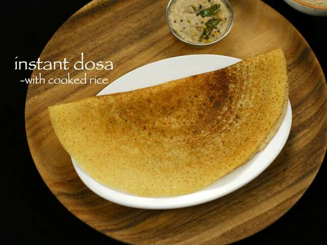 instant dosa recipe with left over rice | instant cooked rice dosa recipe