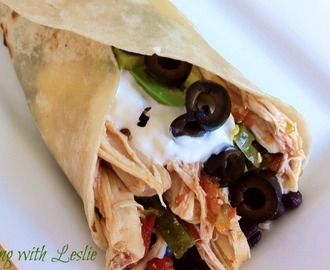 Chicken Burritos (Slow Cooker)