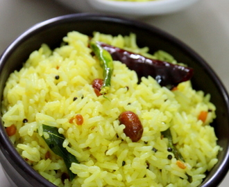 Lemon Rice Recipe South Indian Style, Chitrannam | Nimmakaya Pulihora