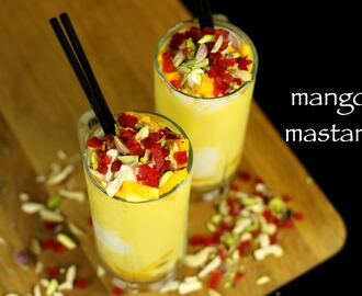 mango mastani recipe | mango milkshake with icecream recipe