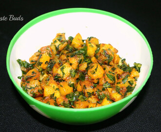 Aloo Methi / Potato & Fenugreek leaves Stir fry