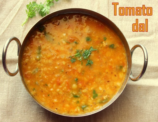 Tomato dal recipe – How to make andhra tomato pappu recipe – Tomato pappu recipe