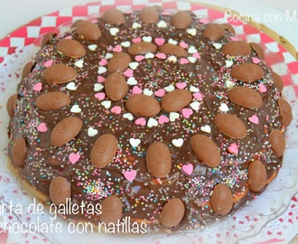 Tarta de galletas y chocolate (con natillas)