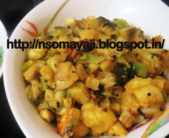 Raw Banana -Bajji Chilly Dry Curry.