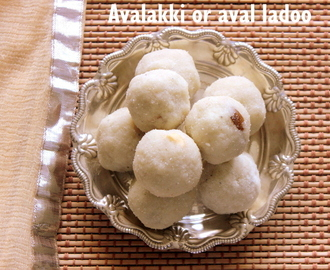 Avalakki or aval ladoo (poha ladoo) recipe – Janmashtami/Krishna Jayanthi recipes