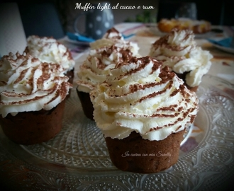 Muffin light al cacao e rum