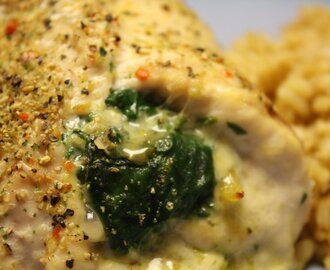 Cream Cheese Spinach Stuffed Chicken